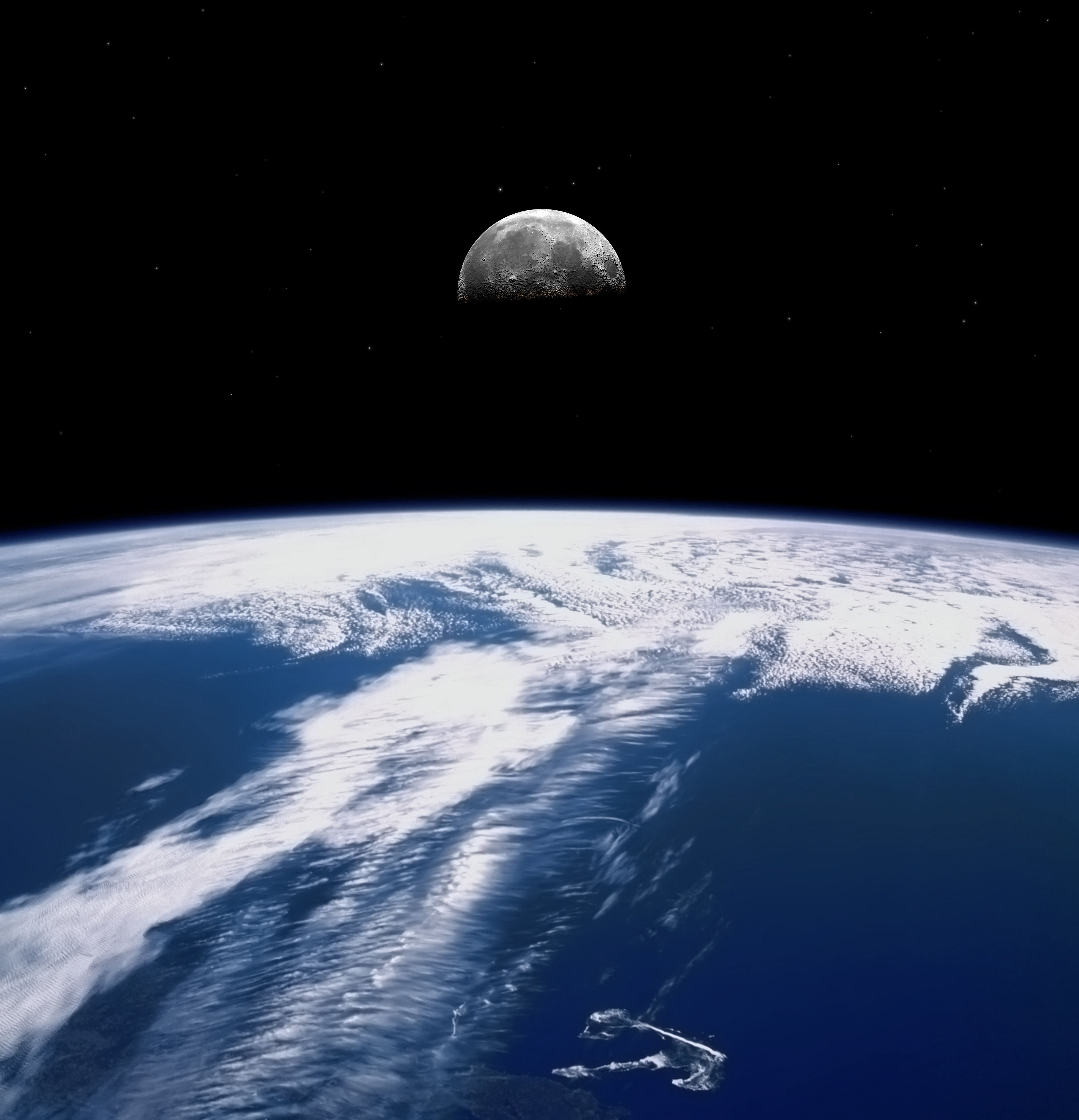 earth from the moon high resolution -#main